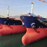 Ships in dockyard
